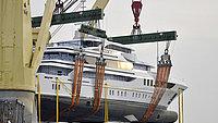 Nine yachts
